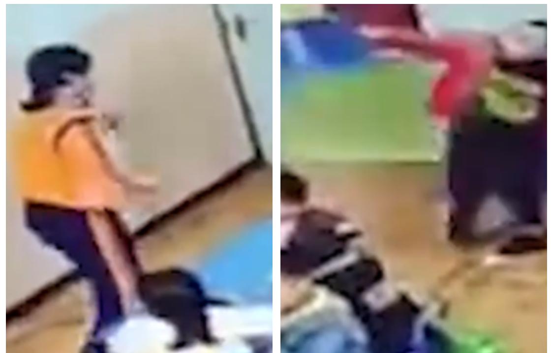 【家长已道歉】幼儿园孩子因被批评扔凳子砸老师 监控拍下全过