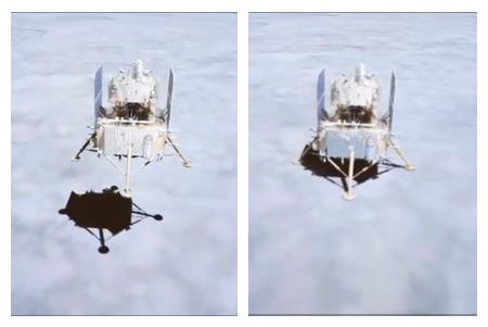 嫦娥五号成功落月 第一时间传回着陆影像