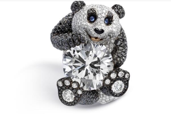 Chopard萧邦最新品大熊猫钻戒珠宝 很值得收藏的一款